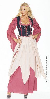 Renaissance Wench Costume from adult clothing store Passion Shop, in the Lingerie, Sexy Costumes section, by by Leg Avenue. 4 piece renaissance wench costume includes boned bodice, peasant dress, apron and ropes. Free Shipping!