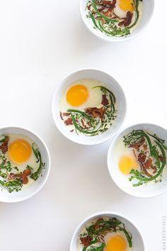 Eggs en Cocotte by bakersroyale: An easy breakfast of baked eggs.