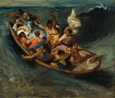 Christ dormant pendant la tempête, par Eugène Delacroix