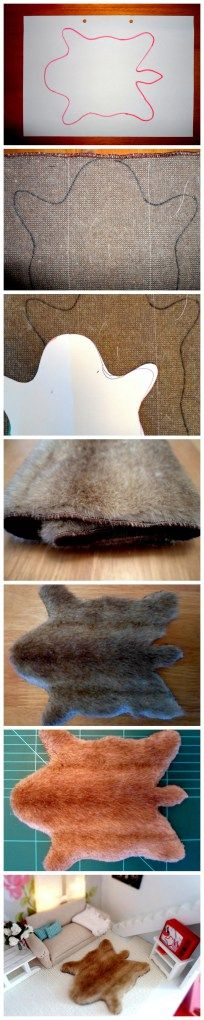 DIY Doll House Animal Rug