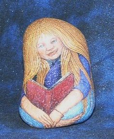 - Reading BookGift to David Bryant - Rancho Mirage Public Library Stone Painting, Rock Painting, Religious Icons, Princess Zelda, Disney Princess, Kinds Of People, Book Gifts, Rock Art, The Rock