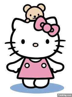Free Vector Hello Kitty with Teddy Bear Image Preview