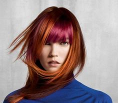 We are seeing more and more copper mixtures, here is a great color idea for ladies looking for something trendy..