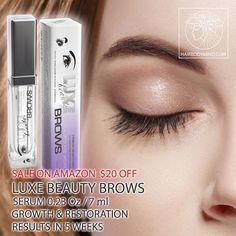 AMAZON SALE. Extra strong formula LUXE Beauty BROWS treats over-plucked/ aging / very damaged brows. Regrow brows in 5 weeks.💚💚💚 Check out LUXE Beauty BROWS at our at website ➡ www.hairbodymind.com 20% off with coupon 20EXTRA💜or Click a link in a bio 🤗✔ 💜The Peptide Complex used in our eyelash and brow growth products is made up of beneficial amino acids, which are designed help stimulate dormant follicles to grow. Peptides are chains of amino acids, which are the building blocks for…