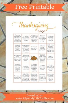 Thanksgiving is less than two weeks away! To help make the holiday just a little more fun, I've put together a free Thanksgiving Dinner bingo printable for you to share among yo… Thanksgiving Bingo, Thanksgiving Games For Adults, Free Thanksgiving Printables, Thanksgiving Activities, Thanksgiving Crafts, Christmas Bingo, Harvest Activities, Free Printables, Thanksgiving Decorations