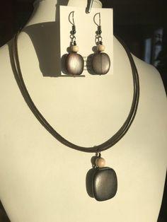 Crochet, Drop Earrings, Bracelet, Jewelry, Fashion, Handmade Gifts, Natural Wood, Drop Earring, Cords