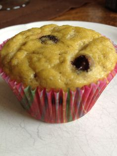 Paleo Banana Chocolate Chip Muffin.  Made this recipe and it is good.