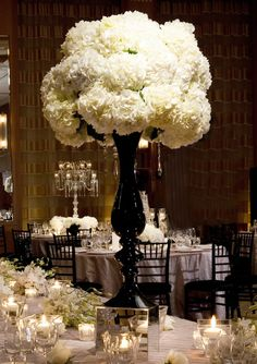 Hydrangea centerpiece. Beautiful.