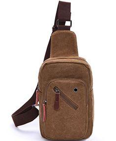 f729fe20a9 Amazon.com  Violet Mist Men s Casual Canvas Unbalance Backpack Sling Bag  Shoulder Bag Chest Bag (Dark Blue)  Sports   Outdoors