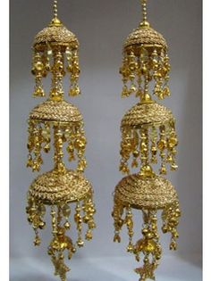 Gold Bridal Kalira / Kaleera--- I would love this in silver depending on the lahenga