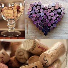 Que tal guardar suas rolhas para fazer uma decoração romântica? #wine #vinho #rolha #decor
