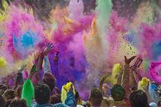 Color festival in Utah