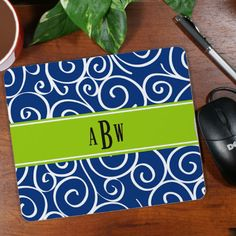 Personalized Monogram Madness Mouse Pad
