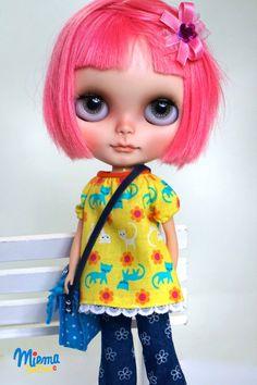 BLOUSE for Blythe Doll by Miema Dollhouse Shirt by miema4dolls
