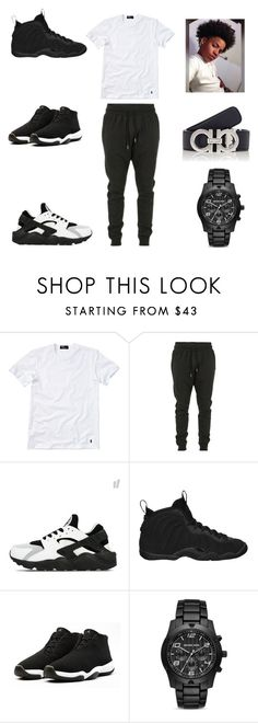 """pollo all day"" by aleisharodriguez ❤ liked on Polyvore featuring Polo Ralph Lauren, Blood Brother, NIKE, Michael Kors, Salvatore Ferragamo, men's fashion and menswear"