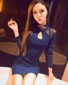 DR001179 Fashion sexy slim back hollow package hip spring dress