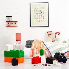 Room Copenhagen Lego Storage Brick 8, orange | Storage | Decoration | Finnish Design Shop