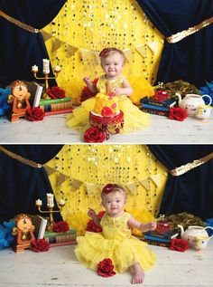 Beauty and the Beast Cake Smash - A Princess Inspired Blog | Elizabeth Frederick Photography
