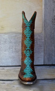"Old Gringo Women's 13"" Tatum Boot in Brass & Turquoise - #CowgirlChic"