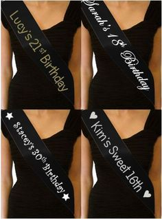PERSONALISED BIRTHDAY SASH  13TH 16TH 18TH 21ST 30TH 40TH 50TH PARTY SASH PRESENT GIFT | eBay