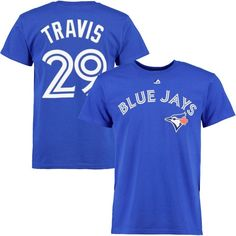 03c4f4fc7 Devon Travis Toronto Blue Jays Majestic Official Name and Number T-Shirt -  Royal