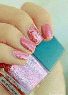 20 Amazing Short Nail Designs You Must Love: #11. Lovely Pink Nail Design for Short Nails