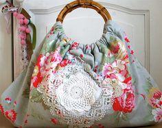 shabby chic handbag with Cath Kidston pink roses