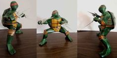 Teenage Mutant Ninja Turtles - Raphael Free Papercraft Download - http://www.papercraftsquare.com/teenage-mutant-ninja-turtles-raphael-free-papercraft-download.html#Raphael, #TeenageMutantNinjaTurtles
