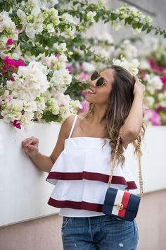 Chic Flavours wearing Tory Burch SAGE TOP