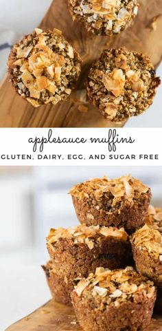 Applesauce muffins are the perfect healthy breakfast for busy mornings. This applesauce muffin recipe is sugar-free, gluten-free, dairy-free, and egg free. #applesaucemuffin #glutenfreemuffins #dairyfreemuffins #sugarfreemuffins