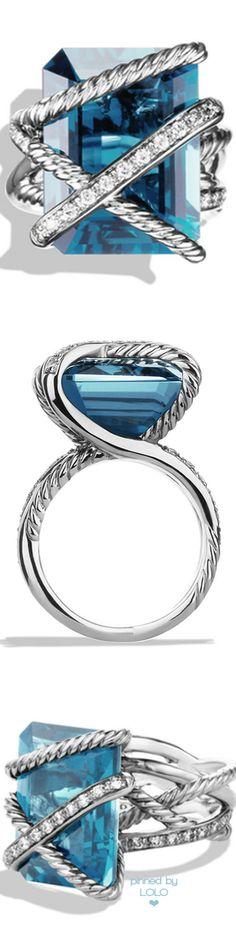 David Yurman Cable Wrap Ring with Diamonds |  LOLO❤︎
