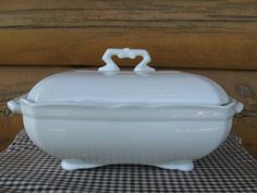 John Maddock & Sons Ironstone Covered Dish by LittleLogHouseAntiqu