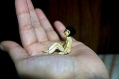 Wooden OOAK bjd in 24th scale tiny hand carved by MonkEyGstudio