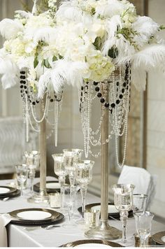Pearl Great Gatsby Themed Party Decorations ❥❥❥ http://bestpickr.com/great-gatsby-themed-party-ideas