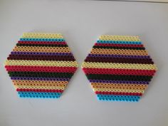 2 Coasters Dr Who, Fourth Doctor made with Hama Beads door TCAshop op Etsy https://www.etsy.com/nl/listing/228186974/2-coasters-dr-who-fourth-doctor-made