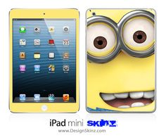 New iPad Mini Skin Despicable Me Minions 8 LONG LASTING Decal. $27.99, via Etsy.
