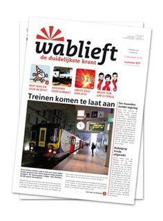 Wablieft - de duidelijkste krant | Het nieuws in duidelijke taal, dat brengt de Wablieft-krant elke woensdag, al 25 jaar lang. Learn Dutch, The Time Is Now, Language, Classroom, Learning, School, Quotes, Footprint, Dyslexia