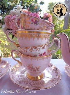 Pretty Pink tea cups