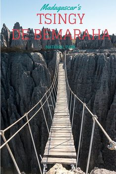 Explore Tsingy de Bemaraha National Park in Madagascar, a wonderland of jagged limestone pinnacles and leaping lemurs. Travel Tours, Travel Info, Travel Guides, Travel Destinations, Places Around The World, Around The Worlds, Madagascar Travel, Beau Site, Parc National
