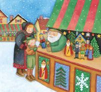German families shop for toys and delicacies at outdoor Christmas markets.  Repinned by www.mygrowingtraditions.com
