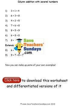 math worksheet : 1000 images about addition and subtraction worksheets on  : Column Addition And Subtraction Worksheets