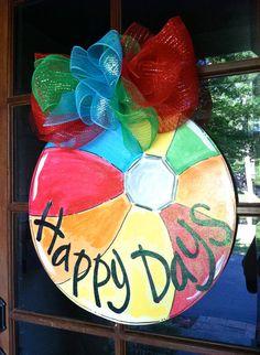 Happy Days Door Hanger  Bronwyn Hanahan by BronwynHanahanArt, $45.00