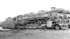"""Texas & Pacific Railroad Texas-type #666 is at Shreveport, Louisiana in September, 1949. T engine crews did in fact refer to this locomotive as """"The Devil Engine"""""""