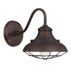 Shop for Capital Lighting Barn Style 1-light Burnished Bronze Outdoor Wall Mount. Get free delivery at Overstock.com - Your Online Garden