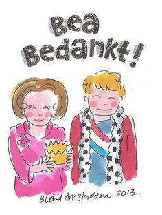 Blond Amsterdam inhaker aftreden koningin #Beatrix #trixit