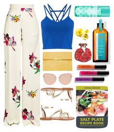 """""""Tropical"""" by gmoro ❤ liked on Polyvore featuring Etro, Miss Selfridge, Dorothy Perkins, K. Jacques, Topshop, Improvements, Bobbi Brown Cosmetics and Silken Favours"""