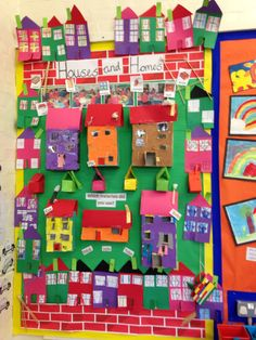 Houses and homes display board linked with our history topic Early Years Classroom, New Classroom, Preschool Classroom, Classroom Ideas, Kindergarten, Class Displays, School Displays, Classroom Displays, Katie Morag
