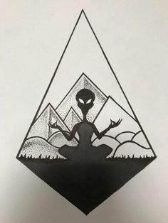 Any comments on tattoo i am currently drawing? - Submitted by GreatManFish via KoolTattoos Alien Drawings, Space Drawings, Cool Art Drawings, Tattoo Sketches, Tattoo Drawings, Drawing Sketches, Black Tattoos, Body Art Tattoos, Nerd Tattoos