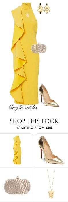 """Untitled #855"" by angela-vitello on Polyvore featuring Solace, Christian Louboutin, Santi and Gorjana"