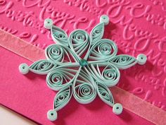 Quilling by Anca Milchis: Quilling snowflakes - day number 8
